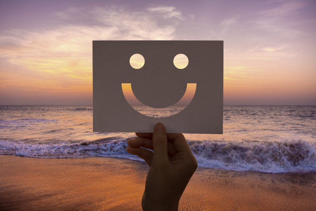 Consciousness - Happiness cheerful perforated paper smiley face